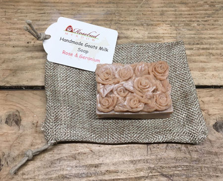 Picture of Rosebud Meadow Rose and Geranium Soap